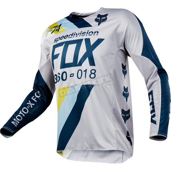 Fox Light Gray 360 Draftr Jersey - 19418-097-2X