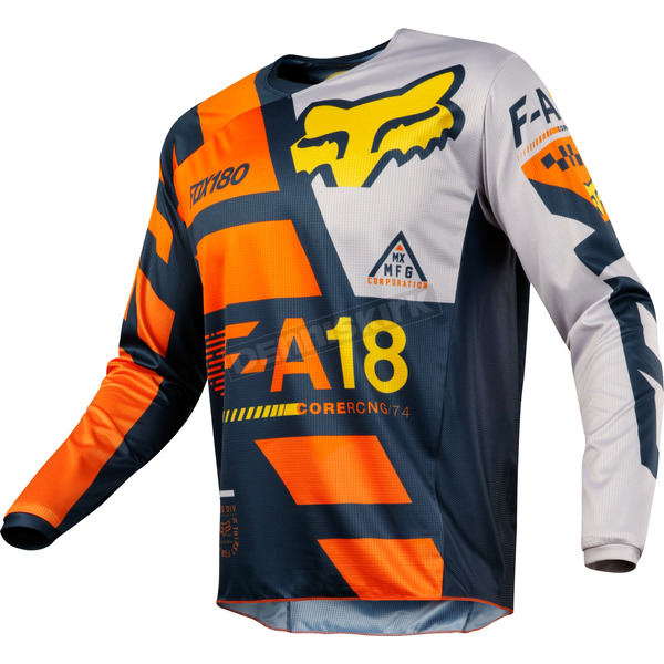 Fox Orange 180 Sayak Jersey - 19428-009-L