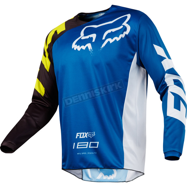 Fox Blue 180 Race Jersey - 19426-002-XL