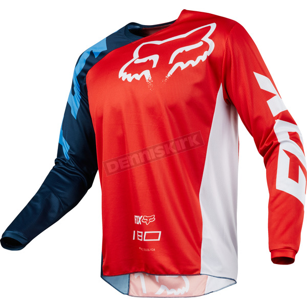 Fox Red 180 Race Jersey - 19426-003-2X