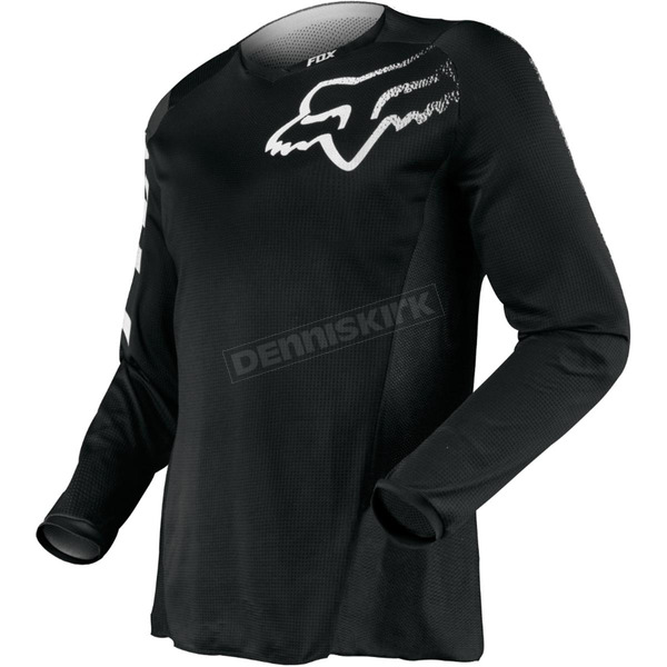 Fox Black Blackout Jersey - 12336-001-M