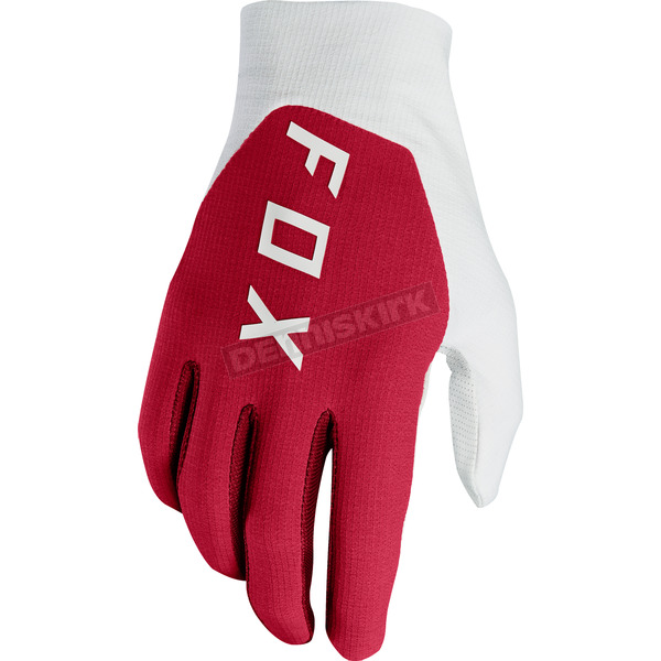 Fox Dark Red Flexair Preest Gloves - 19515-208-S