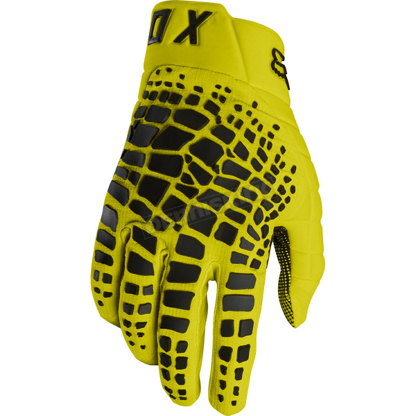 Fox Yellow 360 Grav Gloves - 17289-005-L