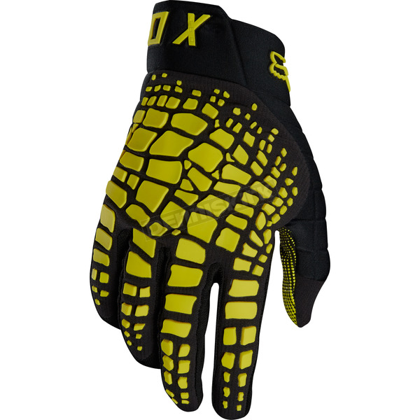 Fox Dark Yellow 360 Grav Gloves - 17289-547-L