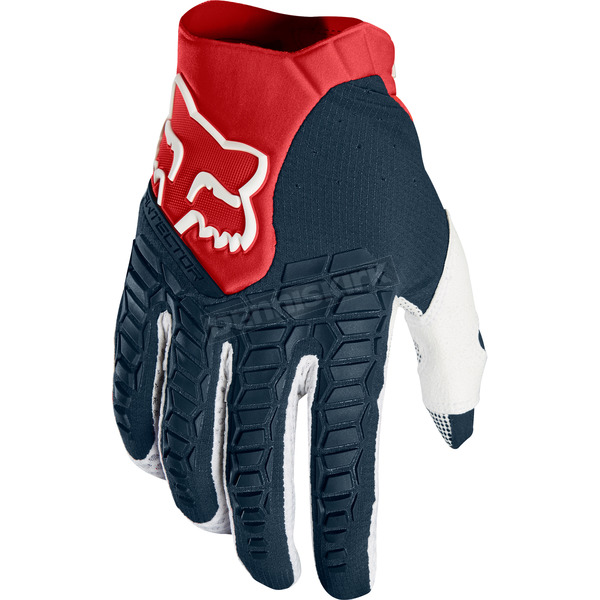 Fox Navy/Red Pawtector Gloves - 17286-248-M
