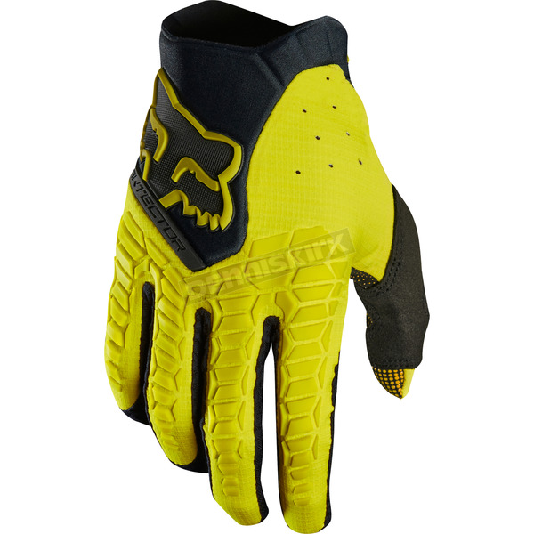 Fox Dark Yellow Pawtector Gloves - 17286-547-L