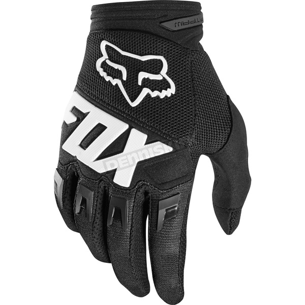 Fox Black Dirtpaw Race Gloves - 19503-001-S
