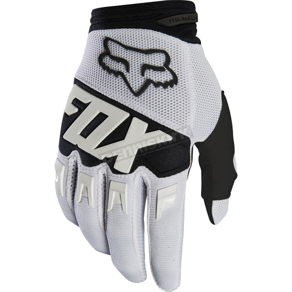 Fox White Dirtpaw Race Gloves - 19503-008-M