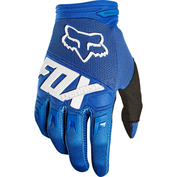 Fox Blue Dirtpaw Race Gloves - 19503-002-L
