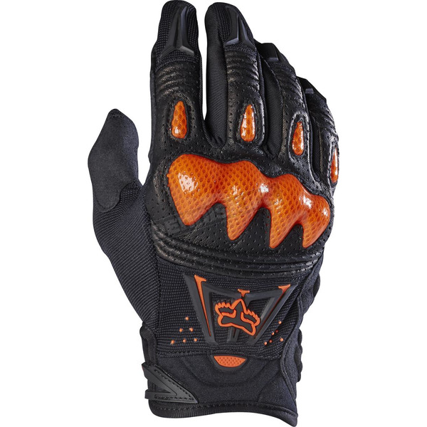 Fox Black/Orange Bomber Gloves - 03009-016-S