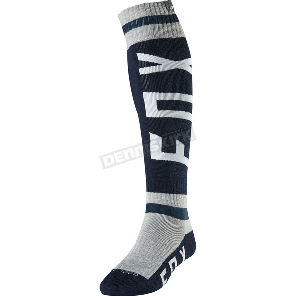 Fox Navy/Gray Preest Coolmax Thick Socks - 20003-082-M