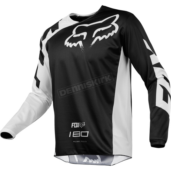 Fox Youth Black 180 Race Jersey - 19442-001-XL