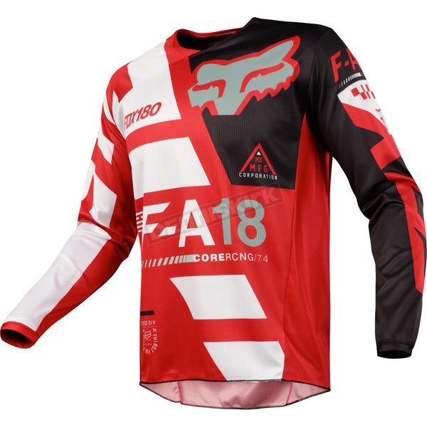Fox Youth Red 180 Sayak Jersey - 19446-003-L