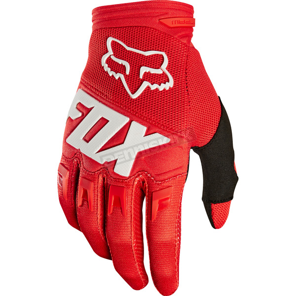 Fox Youth Red Dirtpaw Gloves - 19507-003-L