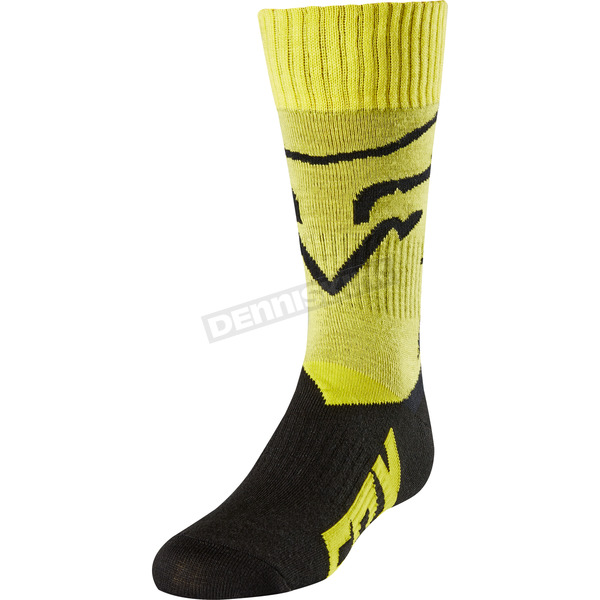 Fox Youth Yellow MX Socks - 20029-005-L