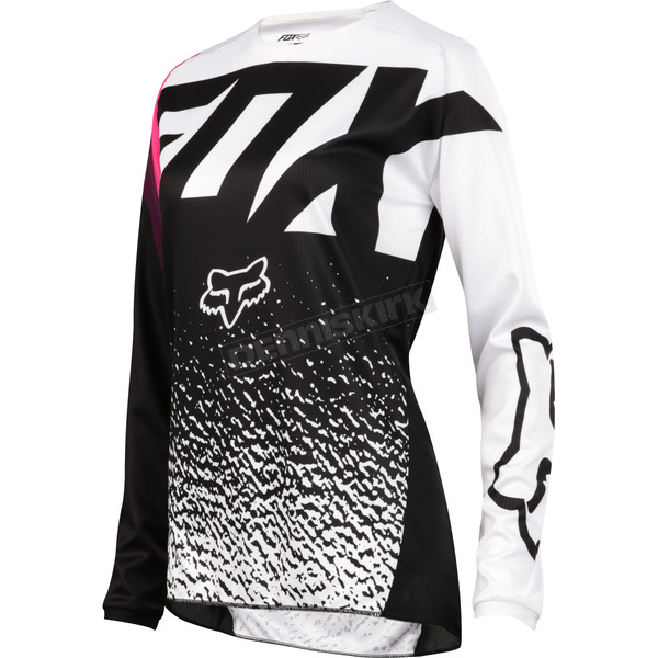 Fox Youth Girl's Black/Pink 180 Jersey - 19450-285-XL