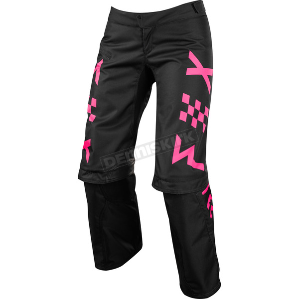 Fox Women's Black/Pink Switch Pants - 19466-285-4