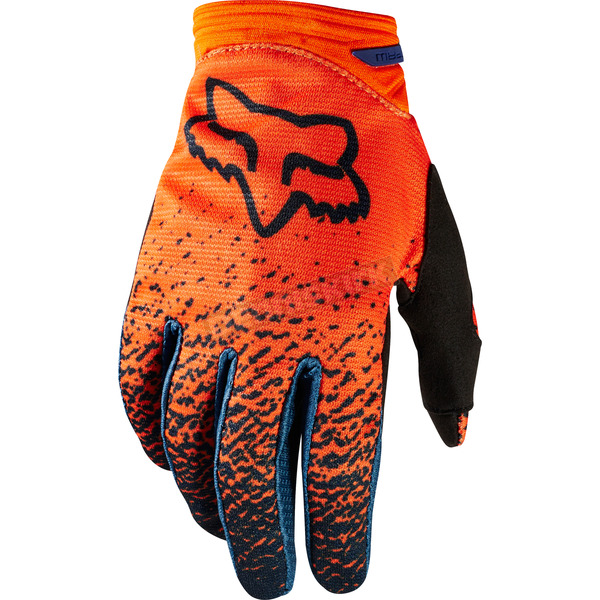 Fox Youth Girls Gray/Orange Dirtpaw Gloves - 19508-230-XS