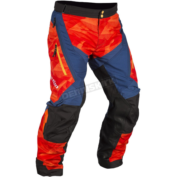 Klim Orange/Black/Blue Dakar Pants - 3142-003-038-400