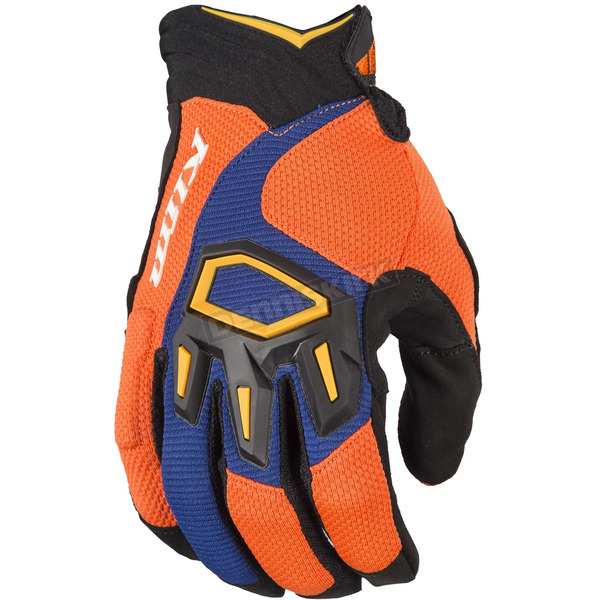Klim Orange/Blue Dakar Gloves - 3167-003-140-400