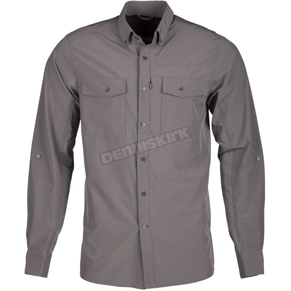 Klim Dark Gray Basecamp Long Sleeve Shirt - 3921-000-170-660