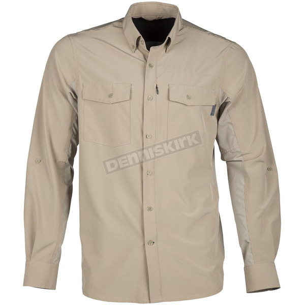 Klim Tan Basecamp Long Sleeve Shirt - 3921-000-130-900