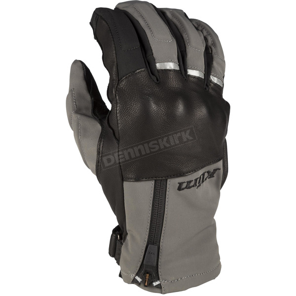 Klim Gray/Black Vanguard GTX Short Gloves - 3922-000-140-600