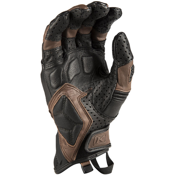 Klim Black/Brown Badland Aero Pro Short Gloves - 3924-000-170-900
