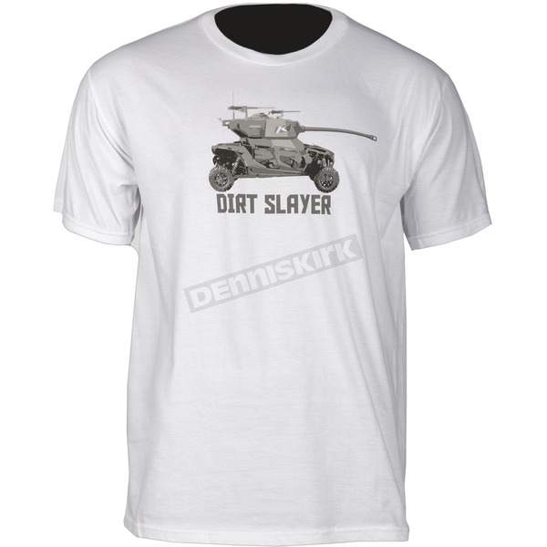 Klim White Dirt Slayer T-Shirt - 3953-000-130-800
