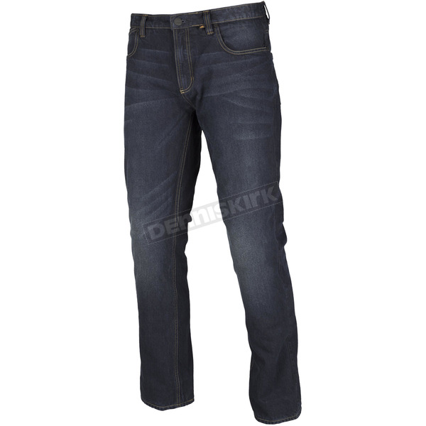 Klim Stealth Blue Denim K Fifty 2 Straight Riding Jeans - Tall - 3986-000-234-275