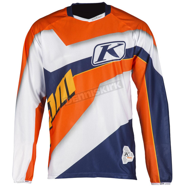 Klim Orange/White/Purple XC Lite Jersey - 5003-002-160-400