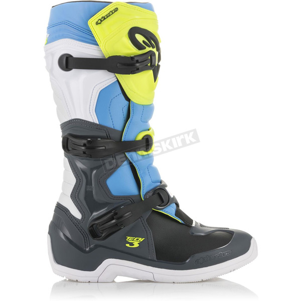 Fluorescent Yellow/White/Blue Tech 3 Boots - 201301852705