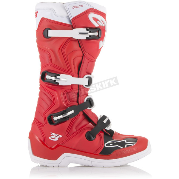 Alpinestars Red/White Tech 5 Boots - 20150153210