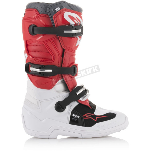 Alpinestars White/Red/Gray Tech 7S Youth Boots - 20150172384