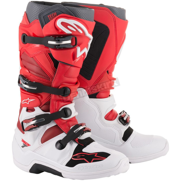 White/Red/Burgundy Tech 7 Boots  - 2012014203310