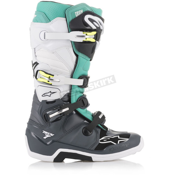Gray/Teal/White Tech 7 Boots - 2012014907210