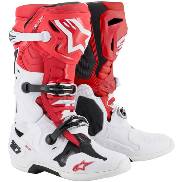 Red/White Tech 10 Boots - 2010019-3001-10