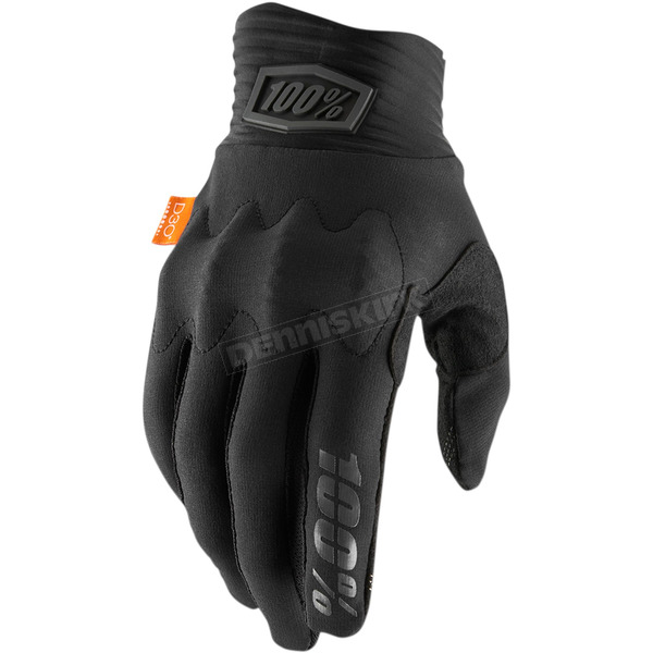 100% Black/Charcoal Cognito Gloves - 10013-057-10