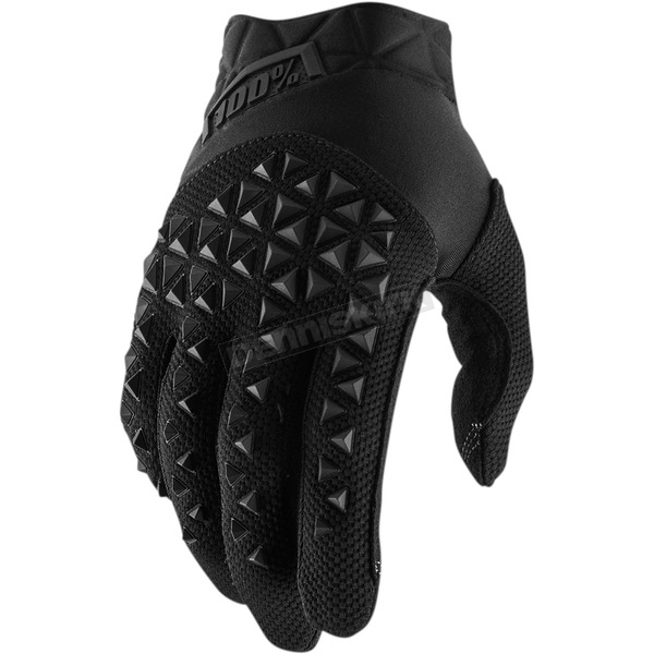 100% Black/Charcoal Airmatic Gloves - 10012-057-13