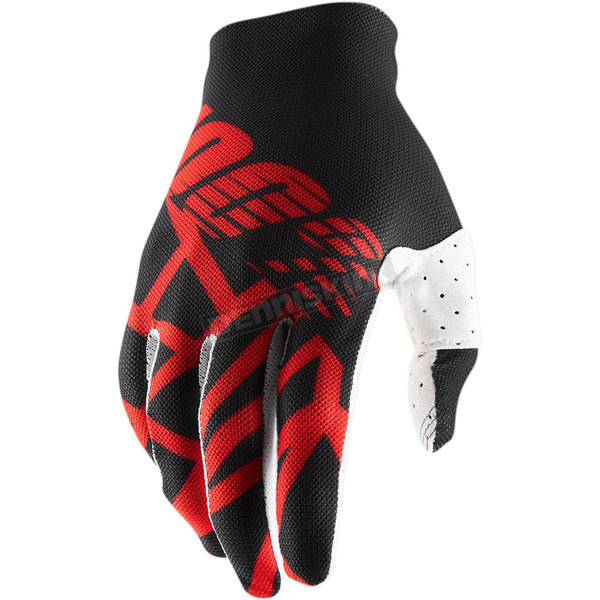 100% Black/Red/White Celium 2 Gloves - 10009-267-10
