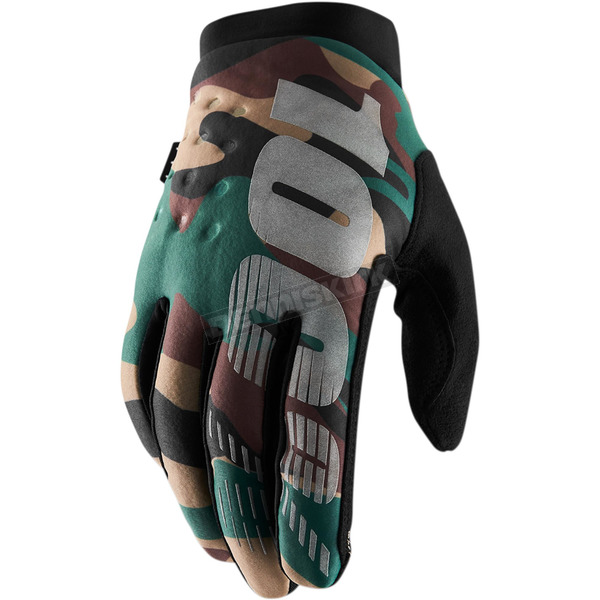 100% Camo/Black Brisker Gloves - 10016-061-13