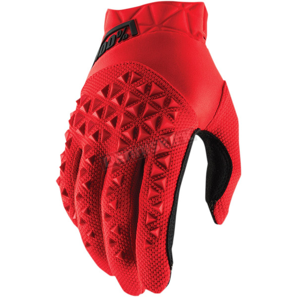 100% Youth Red/Black Airmatic Gloves - 10012-013-04