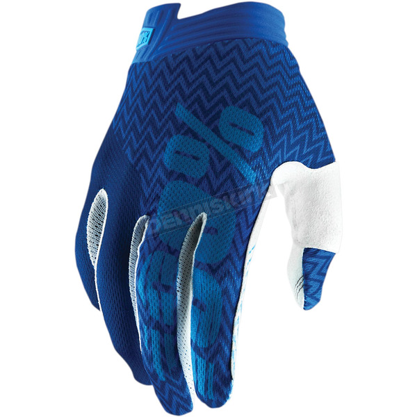 100% Youth Blue/navy I-Track Gloves - 10015-015-07