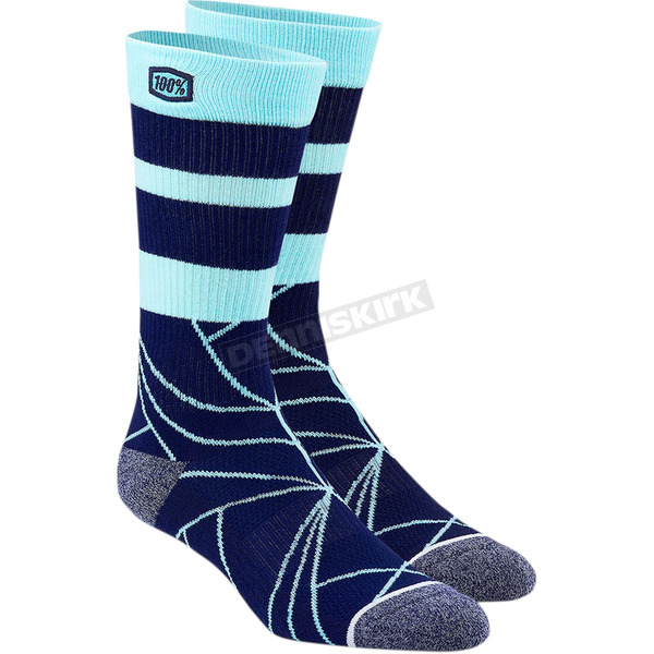 100% Navy Fracture Athletic Socks - 24016-015-17