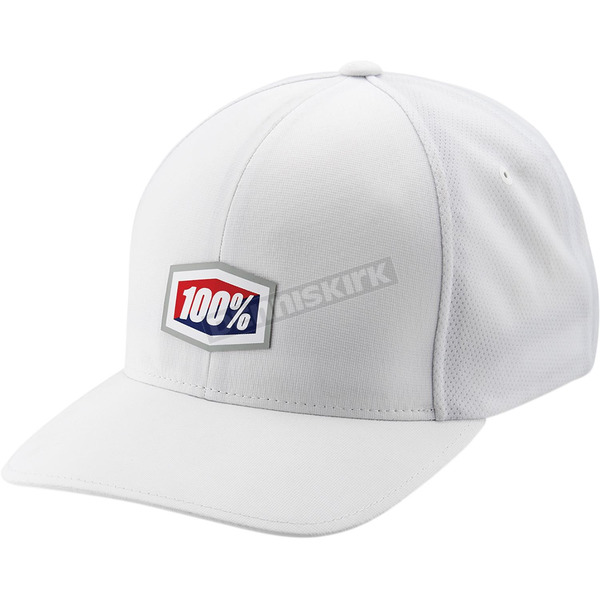 100% White Contact Flexfit Hat - 20069-000-17