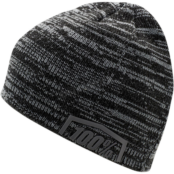 100% Black/Gray Essential Beanie  - 20116-027-01