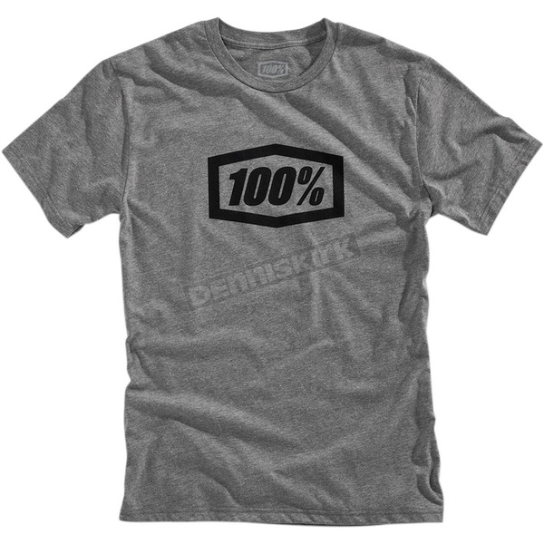 100% Gunmetal Heather Essential T-Shirt - 32016-025-12