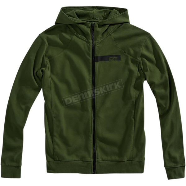 100% Fatigue Chamber Zip Hooded Sweatshirt - 36019-005-12