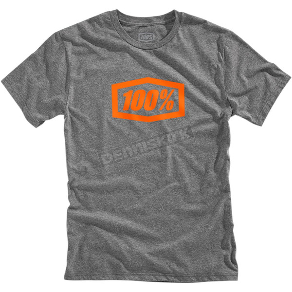 100% Gunmetal Heather Essential Tech T-Shirt - 35004-025-11