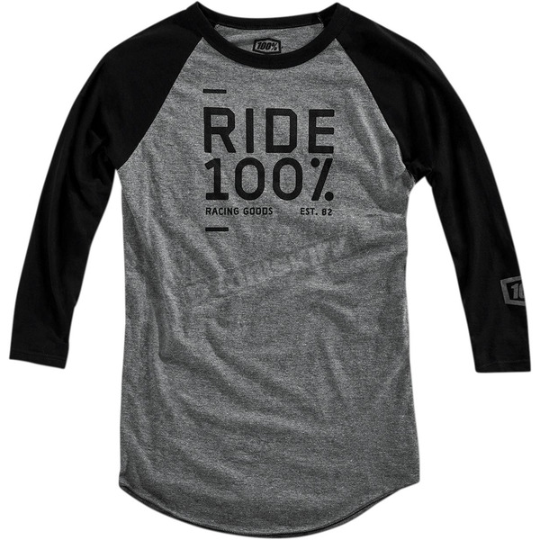 100% Black/Gray Sanction Long Sleeve Tech T-Shirt - 35006-057-12